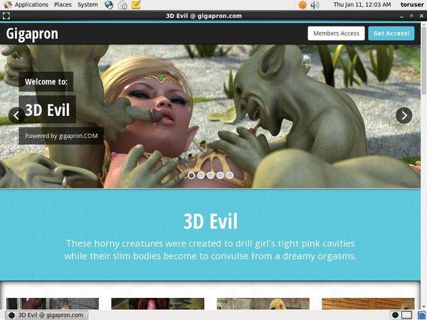 3D Evil Free Clips
