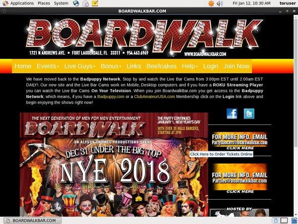Account For Boardwalk Bar