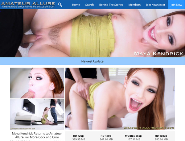 Amateur Allure Renew Membership
