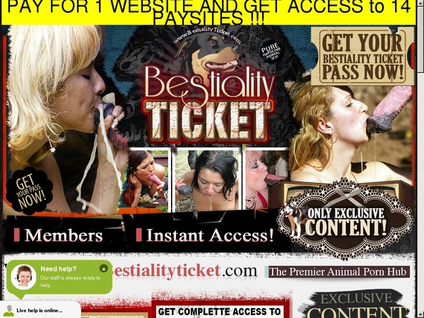 Bestialityticket Free Trial Link