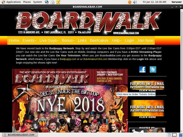 Boardwalkbar.com Paypal Access