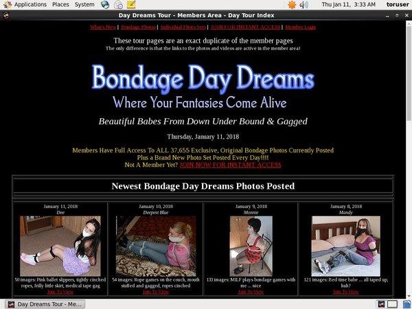 Bondage Daydreams Login Details