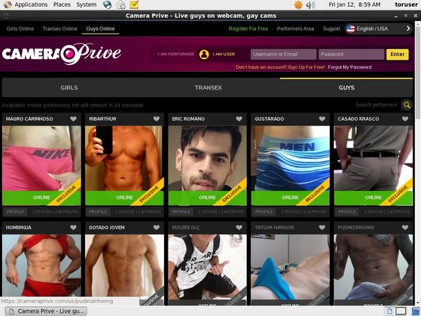 CameraPrive Gay Webcams Ad