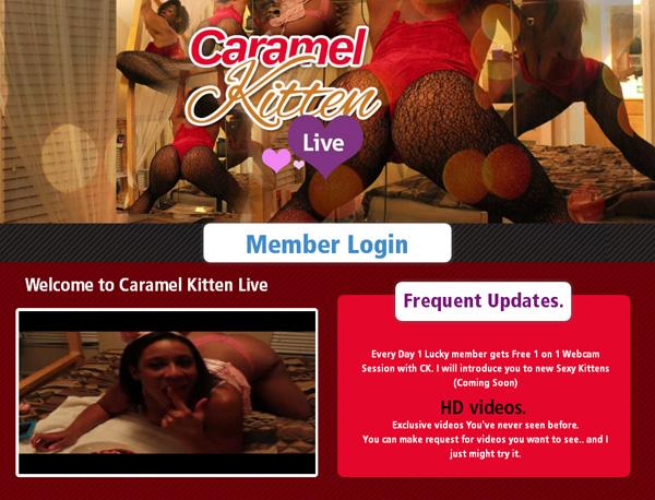 Caramel Kitten Live Signup Page