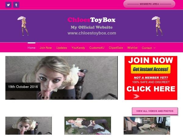 Chloestoybox Vendo Page