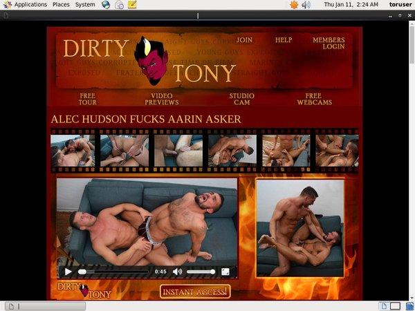 Dirtytony.com Login Password