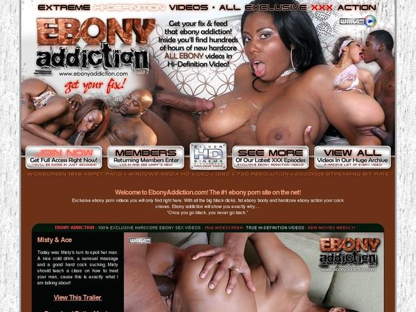 Ebony Addiction Without Paying