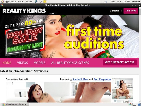 First Time Auditions Get Password