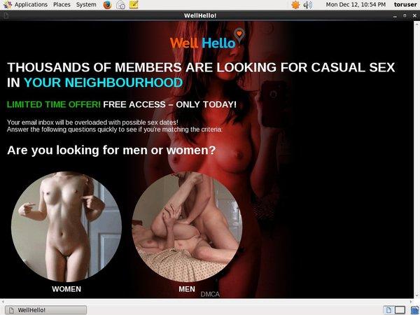 Free Account Of Wellhello.com