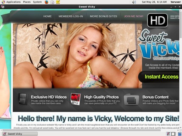 Free Account On Sweet Vicky