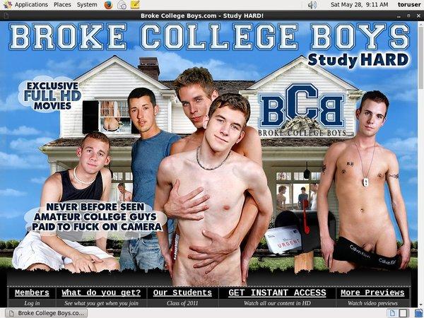 Free Brokecollegeboys Account Password