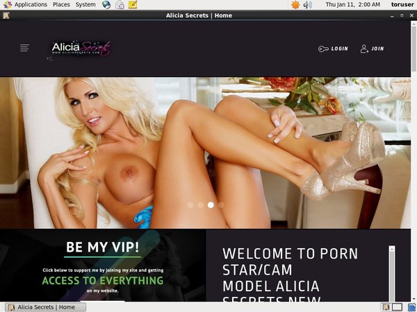 Free Working Aliciasecrets.com Accounts
