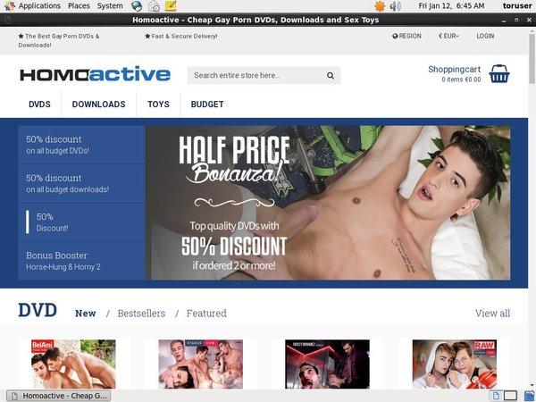 Get Homo Active Account
