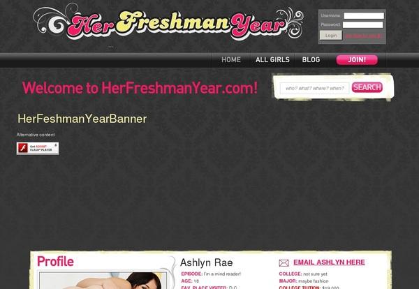 Her Freshman Year Discount Offer