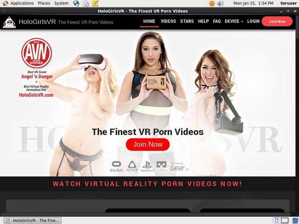 HoloGirlsVR Pay Site