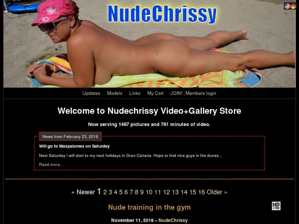 Nude Chrissy Porn Site