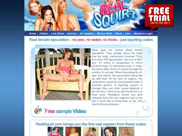 Realsquirt.com Discount Membership