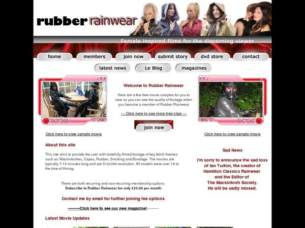 Rubber Rainwear Latest Passwords
