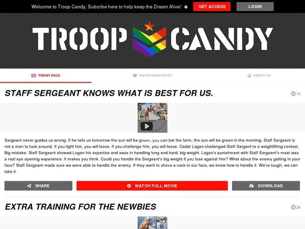 Troop Candy パスワード