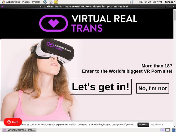 Virtual Real Trans Sign Up Discount