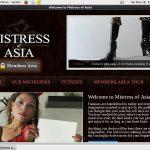 Discount Mistressofasia.com Free Trial