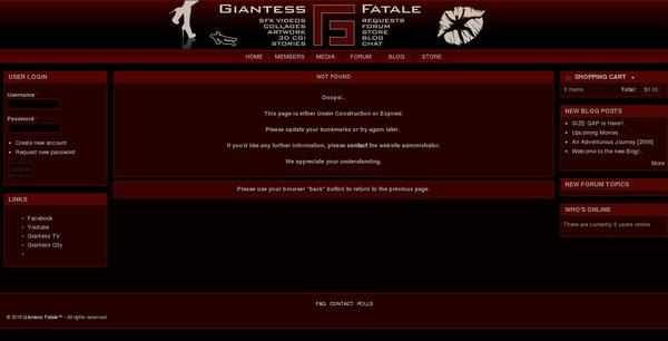 Giantess Fatale Registration Form