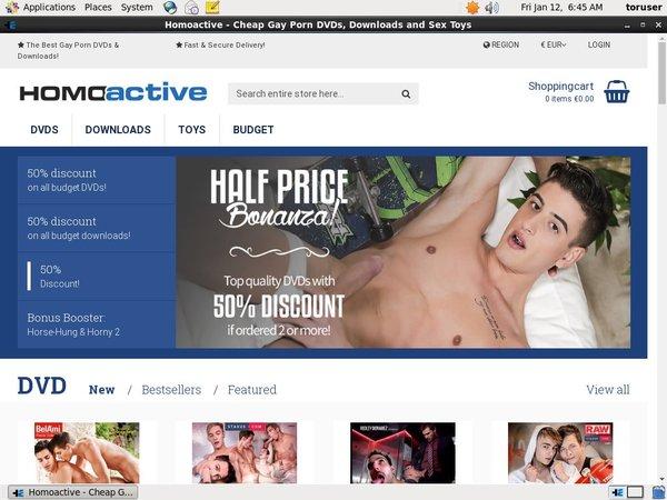 Homoactive Account Information