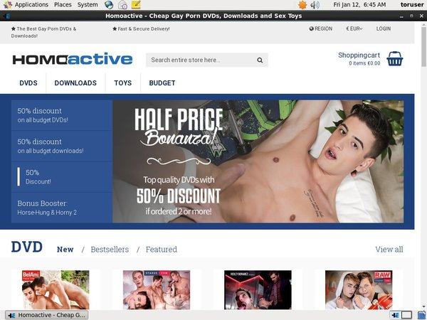 Homoactive.com Discount Join Page