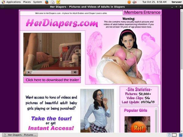 Her Diapers Member Account