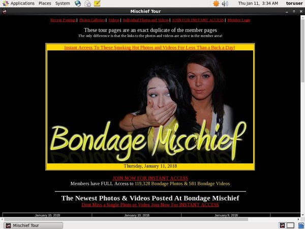 Bondage Mischief Register