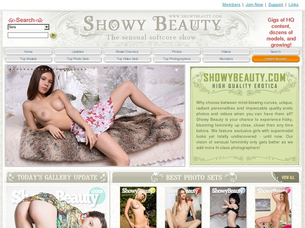 Showybeauty.com Free Account