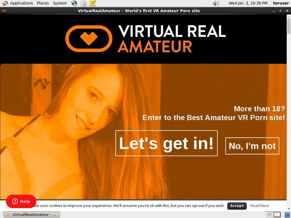 Virtual Real Amateur Sign Up Form