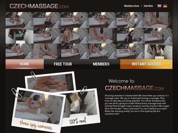 Czech Massage Account Passwords