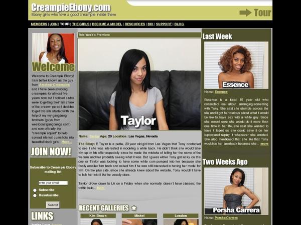 Free Creampie Ebony Promo