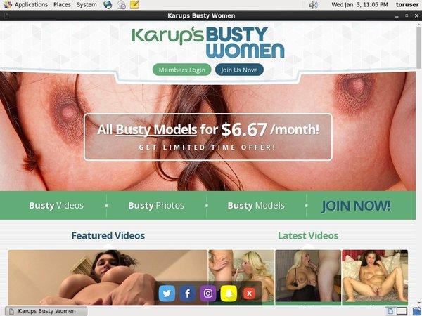Karupsbusty.com Yearly Membership