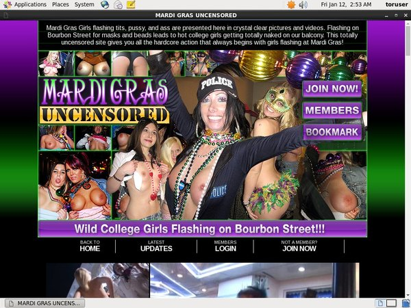 Free Mardi Gras Uncensored Membership Account