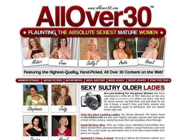 New Allover30.com Account