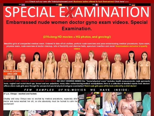 Specialexamination Members Area