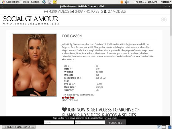 Account For Jodiegasson.com Free