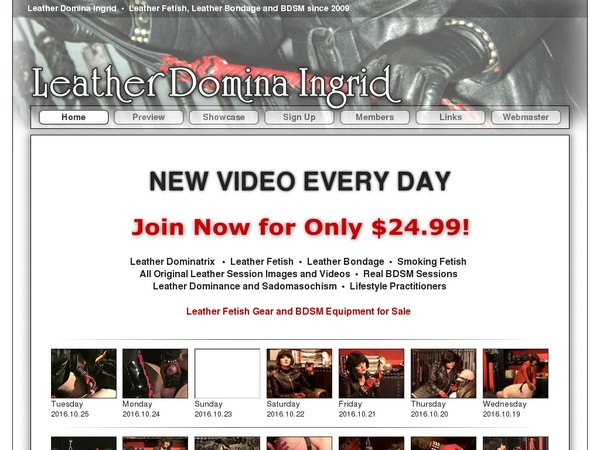 Leather Domina Ingrid Discount Limited