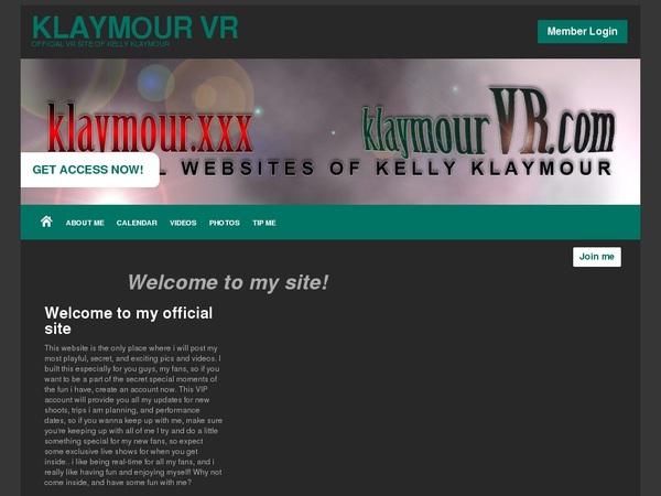 Klaymourvr.com Take Paypal