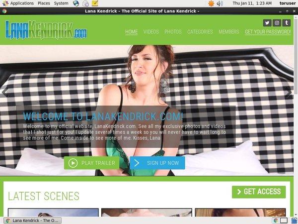 Lana Kendrick Checkout Page