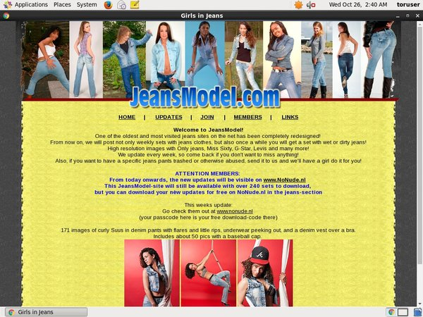 Jeans Model Passcodes