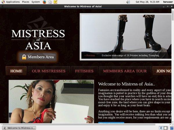 Mistressofasia Free Trial Join
