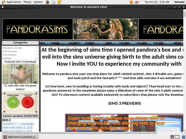 Pandora Sims Models