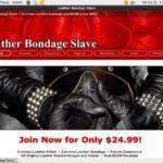 Leather Bondage Slave Live