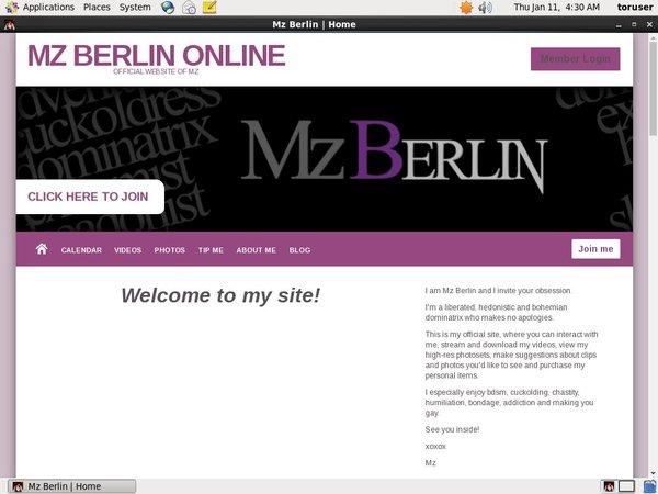 Free Trial Mz Berlin Online Login