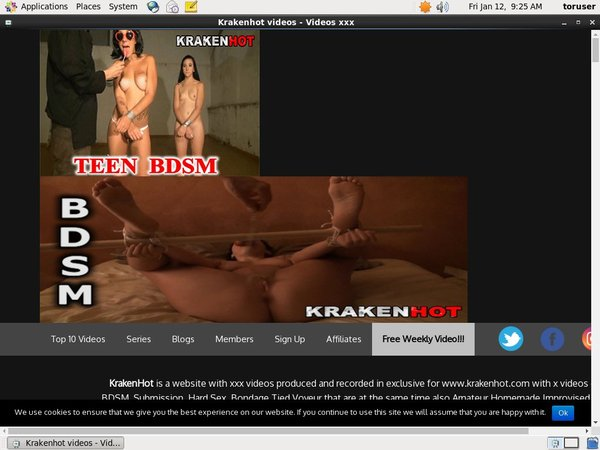 Krakenhot.com Free Trial Signup
