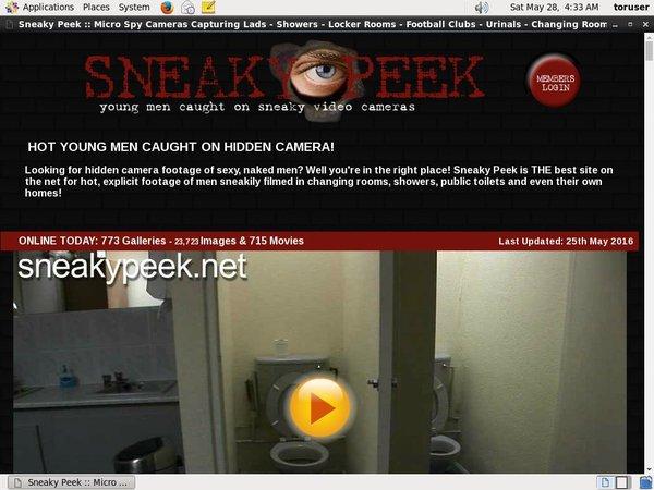 Make Sneaky Peek Account
