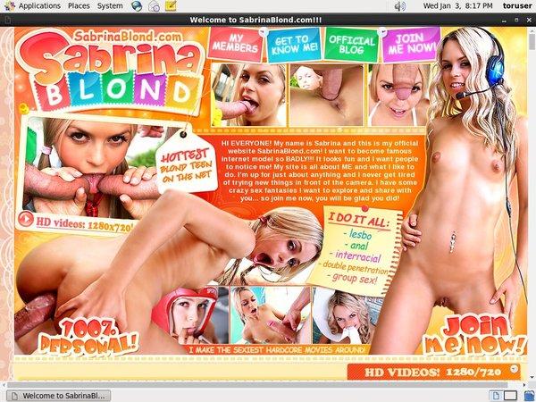 Sabrina Blond Free Porn